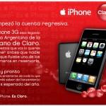 Cuenta Regresiva de Claro para el Iphone en Argentina