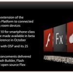 Flash Player 10 para celulares en Octubre