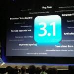 Version 3.1 de iPhone, nueva actualización