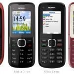 Nokia C1-00, C1-01, C1-02 y C2: la nueva linea economica