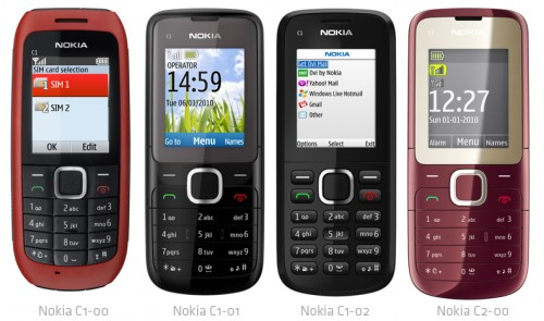 nokia c1 y c2