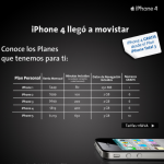 Precio del iphone 4G en Mexico con Movistar