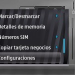Mostrar / Ocultar contactos SIM en celular Nokia