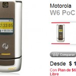 Motorola W6 en oferta con Claro
