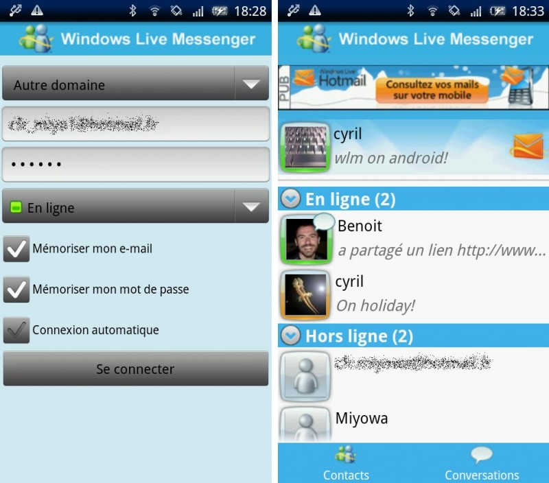 Versiones de Windows Live Messenger 2009 Windows Live Messenger Para