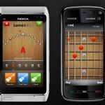 Acordes y afinador de guitarra en el celular: Tunerific