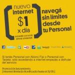 Internet ilimitado a 1 peso por dia con Personal