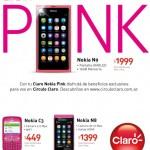 Gama de celulares de color Rosa con Claro