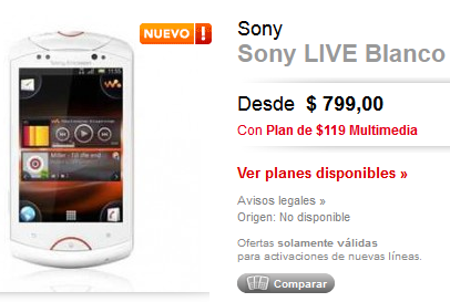 sony-ericsson-live-en-la-tienda-virtual-claro-claro-tienda-virtual