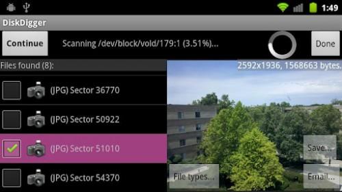 diskdigger para android: recuperar fotos
