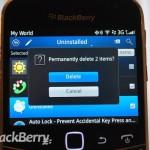 Eliminar aplicaciones desde BlackBerry App World