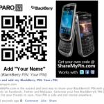 Compartir y publicar el PIN BlackBerry