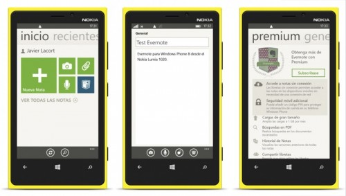 evernote para windows phone