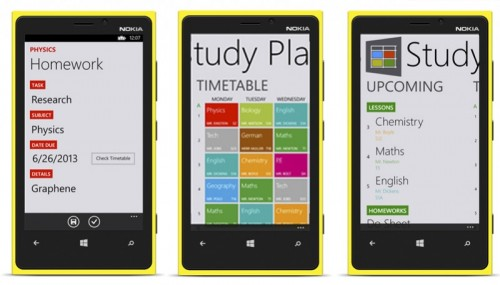 studyplanner para windows phone