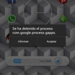 """Solucionar error """"com.google.process.gapps"""""""
