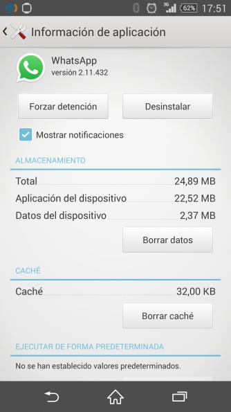 whatsapp tilde azul
