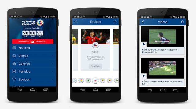 Descargar aplicacion oficial de la Copa America 2015-1
