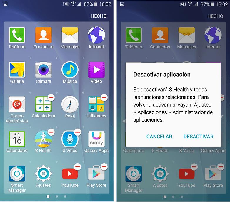 desactivar aplicaciones