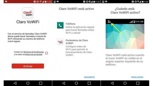 claro vowifi, llamadas de voz usando wi-fi