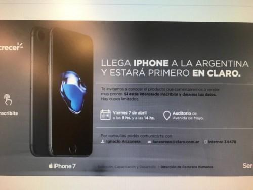 iPhone 7 en claro argentina.