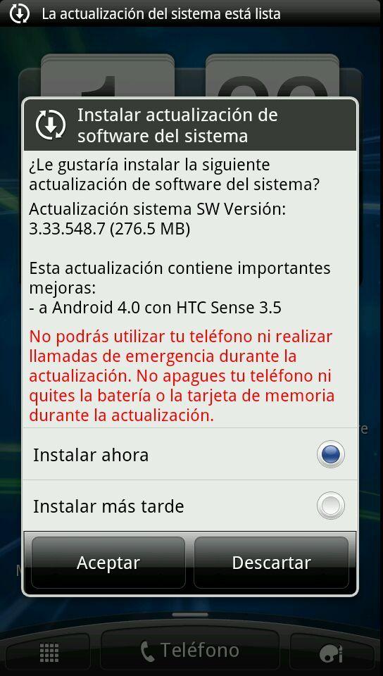 android 4.0 ICS Claro Argentina