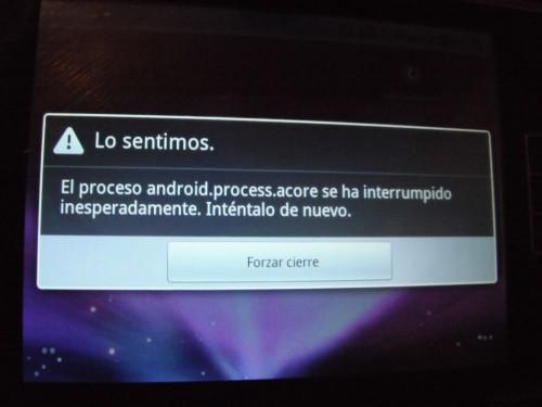 Error android.process.acore