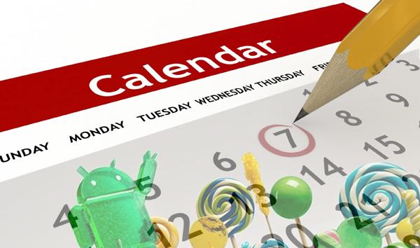 calendario actualizaciones android_5.0 lollipop