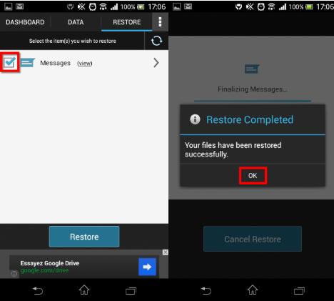 Copia de seguridad Android  4