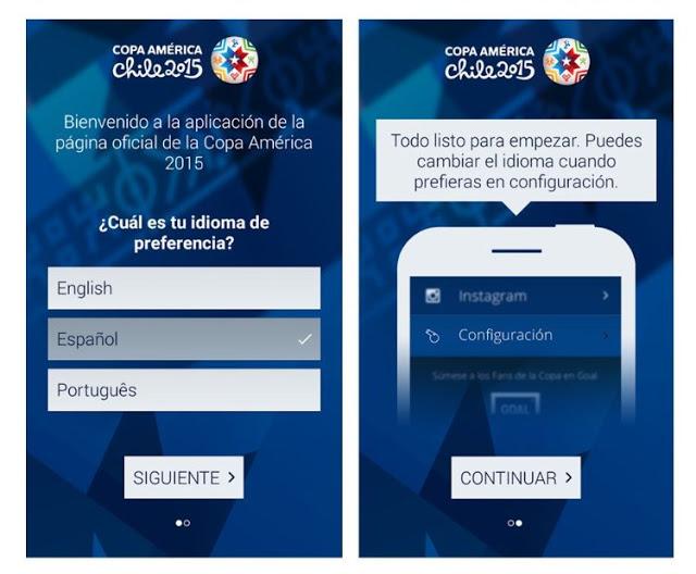 Descargar aplicacion oficial de la Copa America 2015