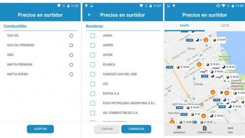 Precio Surtidor Precios de los combustibles en Argentina.